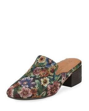 Gentle Souls Eida Floral Fabric Block-Heel Mule