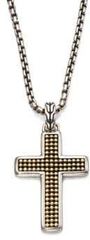 John Hardy Classic Chain Collection Sterling Silver Cross Necklace