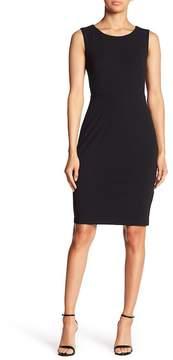 Donna Morgan Sleeveless Foldover Crepe Dress