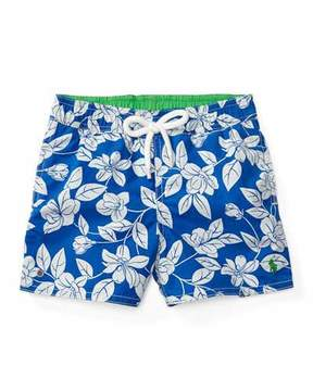 Ralph Lauren Floral Swim Trunks, Blue, Size 9-24 Months