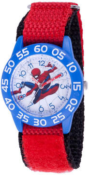Marvel Spiderman Boys Red Strap Watch-Wma000182