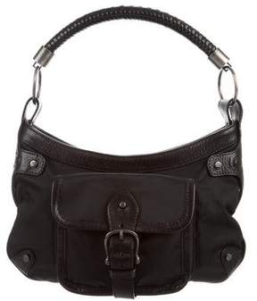 Burberry Leather-Trimmed Nylon Handle Bag