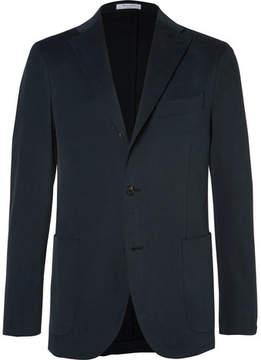 Boglioli Blue Slim-Fit Brushed Stretch-Cotton Twill Suit Jacket