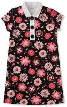 Kate Spade Girls' Floral-Print Collared Shift Dress, Size 7-14