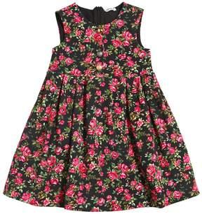 Dolce & Gabbana Roses Printed Cotton Interlock Dress