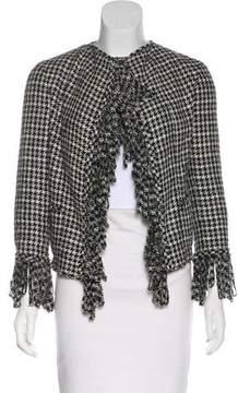 Chanel Fringe Houndstooth Jacket