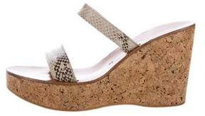 K Jacques St Tropez Embossed Slide Sandals