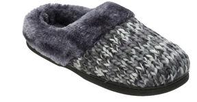 Dearfoams Chunky Knit Clog Slippers