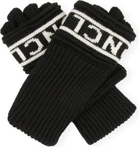 Moncler Logo wool fingerless gloves