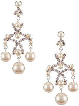 Cezanne Faux-Pearl Chandelier Earrings