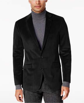 Kenneth Cole Reaction Men's Slim-Fit Micro-Grid Velvet Dinner Jacket