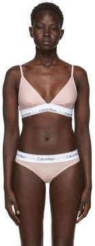 Calvin Klein Underwear Pink Modern Cotton Triangle Bra