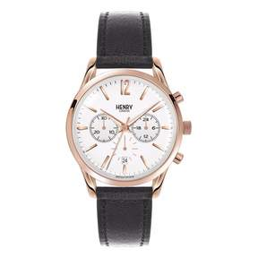 Richmond Henry London - Unisex 39Mm Leather Chronograph Watch