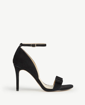 Ann Taylor Louise Suede Bow Heeled Sandals