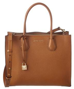 MICHAEL Michael Kors Mercer Large Leather Convertible Tote. - TAN - STYLE