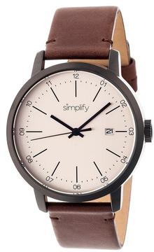 Simplify The 2500 Collection SIM2504 Men's Watch with Leather Strap