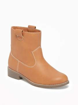 Old Navy Faux-Leather Western Ankle-Boots for Girls