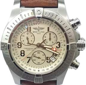 Breitling Avenger A73390 Stainless Steel / Leather Quartz 45mm Mens Watch