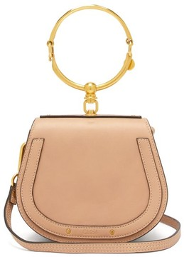 Chloé Nile Small Leather And Suede Cross Body Bag - Womens - Light Pink