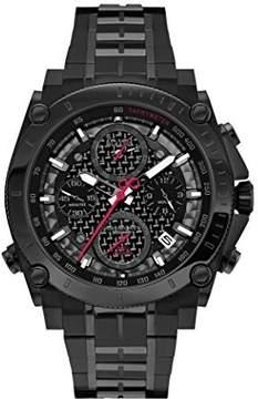 Bulova Precisionist Chronograph Black Carbon Dial Men's Watch 98G257