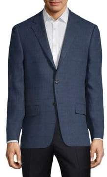 Hickey Freeman Wool Windowpane Sports Jacket