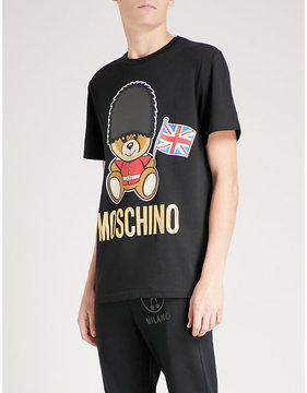 Moschino London Bear cotton-jersey T-shirt