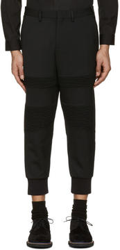 Neil Barrett Black Biker Trousers