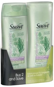 Suave Rosemary Mint Shampoo and Conditioner - 12.6oz,pk of 2
