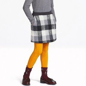 Uniqlo Girl's Fleece Checked Skirt