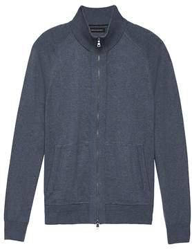 Banana Republic Premium Cotton Cashmere Full-Zip Sweater Jacket