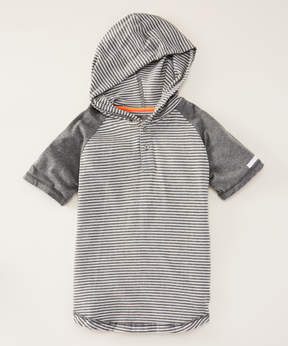 DKNY Medium Heather Herald Hooded Henley - Toddler & Boys