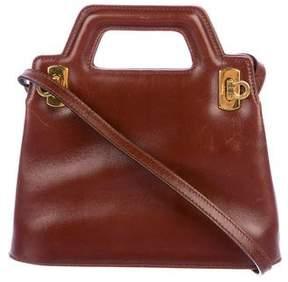 Salvatore Ferragamo Leather Mini Gancino Shoulder Bag