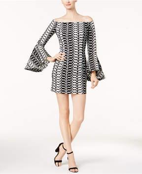 Bardot Off-The-Shoulder Bell-Sleeve Dress