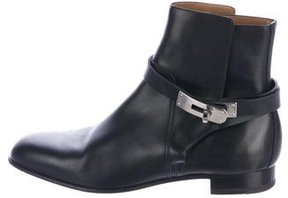 Hermes 2017 Neo Leather Ankle Boots