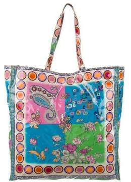 Etro Printed Coated Canvas Tote