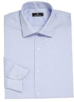 Saks Fifth Avenue 611 New York Striped Cotton Dress Shirt