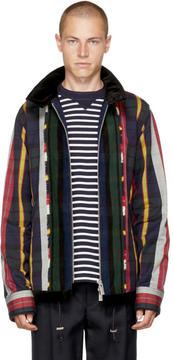 Sacai Multicolor Check and Striped Jacket