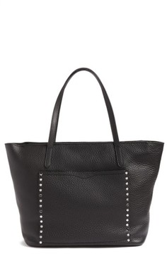 Rebecca Minkoff Unlined Front Pocket Leather Tote - Black