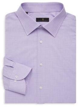 Ike Behar Regular-Fit Glen Plaid Dress Shirt