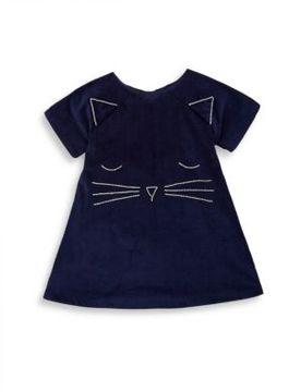 Isabel Garreton Baby's Corduroy Cat Face Cotton Dress