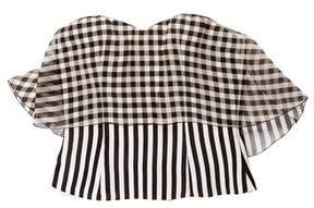 DELPOZO Striped Bustier Top