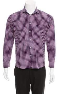 Billy Reid Plaid Button-Up Shirt