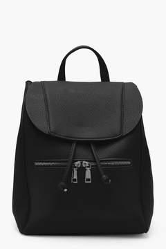 boohoo Zip Pocket Rucksack