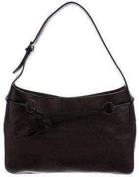 Gucci Leather Horsebit Shoulder Bag - BLACK - STYLE
