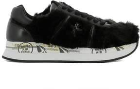 Premiata Black Fur Sneakers