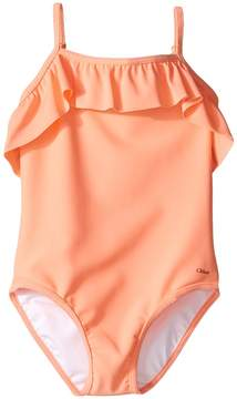 Chloé Kids - Ruffle One-Piece Swimsuit