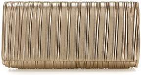 Adrianna Papell Kodi Metallic Pleated Clutch