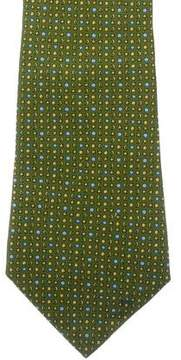 Salvatore Ferragamo Star & Moon Print Silk Tie