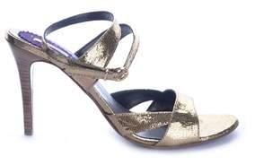Pinko Women's Gold Synthetic Fibers Sandals.