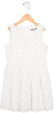 Ermanno Scervino Girls' Embroidered Sleeveless Dress w/ Tags